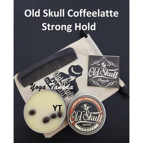Foto Produk Pomade OLDSKULL / OLD SKULL COFFEELATTE STRONG HOLD | AROMA KOPI dari Yoga Tanada