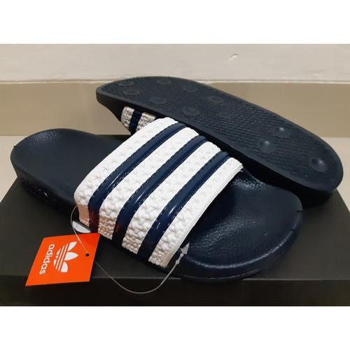 Foto Produk Sandal Adidas Adilette Slide Navy White dari Cross Sport