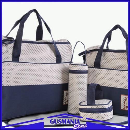 Foto Produk Tas Perlengkapan Popok Bayi Baby Bag Organizer 5 IN 1 Kado Melahirkan dari Gusmania Store