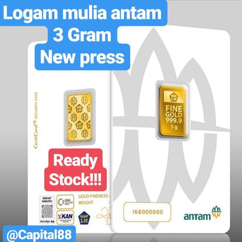 Foto Produk LM/LOGAM MULIA ANTAM PRESS 3GRAM/3GR dari capital88
