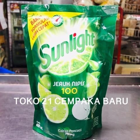 Foto Produk Sunlight Jeruk Nipis Refill 400 ml | Cairan Pencuci Piring Pouch 400ml dari Toko 21 Cempaka Baru