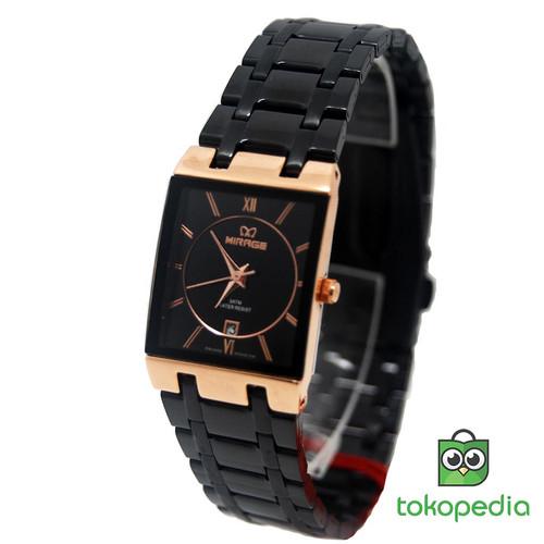 Foto Produk Mirage Jam Tangan wanita 7908L Comb Black/RoseGold dari Mirage Watch