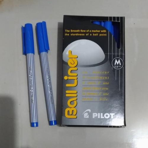 Foto Produk Pen pilot Balliner / Ballpoint ball liner pen 0.8 warna biru/ merah dari Meidi store