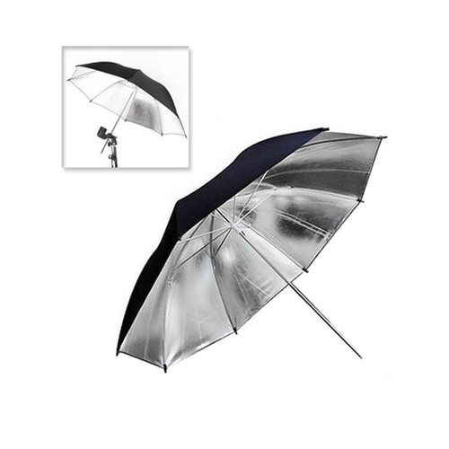 Foto Produk Silver/Black Reflective Umbrella for Photo Studio Flash - 83cm dari MACRO