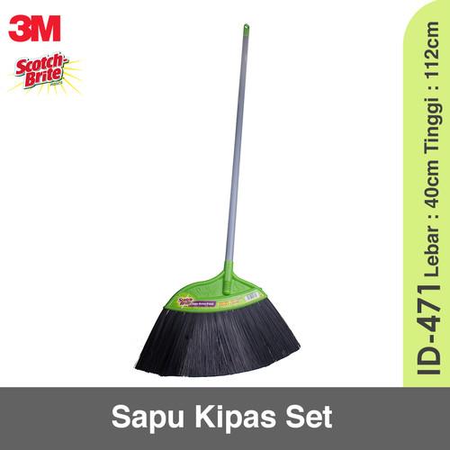 Foto Produk 3M Scotch Brite Sapu Nylon Set ID-471 - Sapu Nilon dari KODAKI Mall