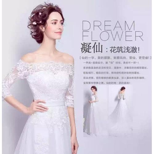 Foto Produk GAUN PENGANTIN WEDDING DRESS Ekor LENGAN PANJANG dari sheaplus