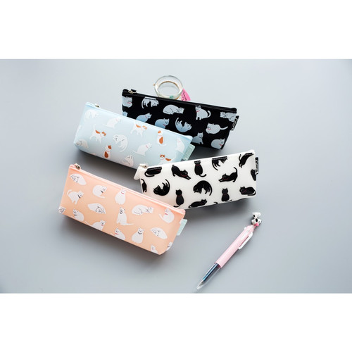Foto Produk TP0016 Tempat pensil Many Cat - blue dari EnnWen Online Store