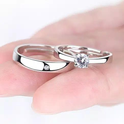 Foto Produk Cincin Couple Silver, Cincin Sepasang Kualitas Terbaik dari Everlasting Gift