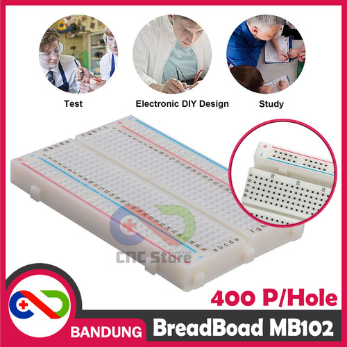 Foto Produk [CNC] BREADBOARD MINI SOLDERLESS 400 400P dari CNC STORE BANDUNG