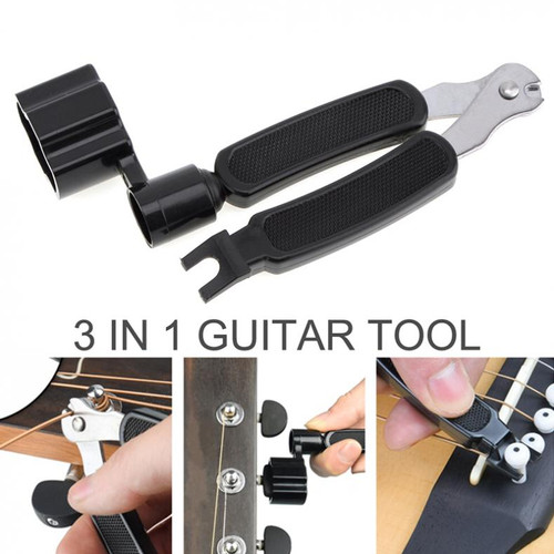Foto Produk Guitar Tools 3 in 1 String Winder + Bridge Pins Puller + String Cutter dari web komputindo