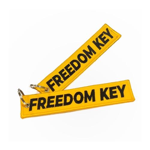 Foto Produk Keychain Keytags Gantungan Kunci Bordir FREEDOM KEY Premium Original dari AB Embroidery Store