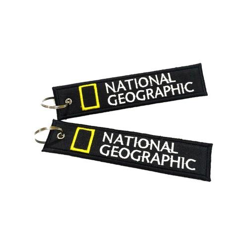 Foto Produk Keychain Keytags Gantungan Kunci Bordir NATIONAL GEOGRAPHIC Premium dari AB Embroidery Store