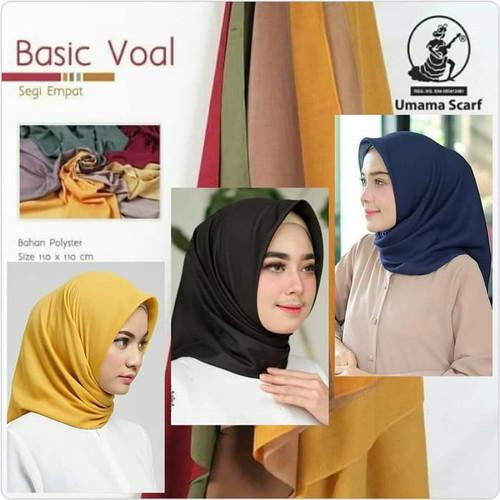 Foto Produk Umama Scarf-Umama hijab-Kerudung Segi Empat-Hijab Murah Basic Voal dari GisellShop2015