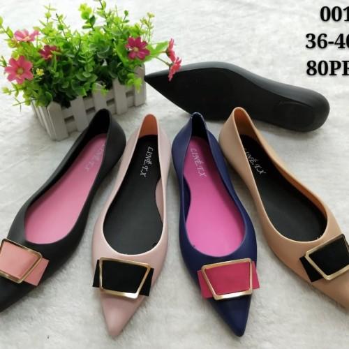 Foto Produk Jelly shoes Sepatu Wanita Square Bow - Flatshoes Sepatu karet Slip on dari Gracia OS