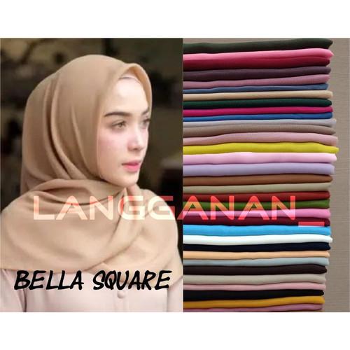 Foto Produk Bella Square / Laudya Square / Jilbab segi empat - BS Hitam dari Langganan_