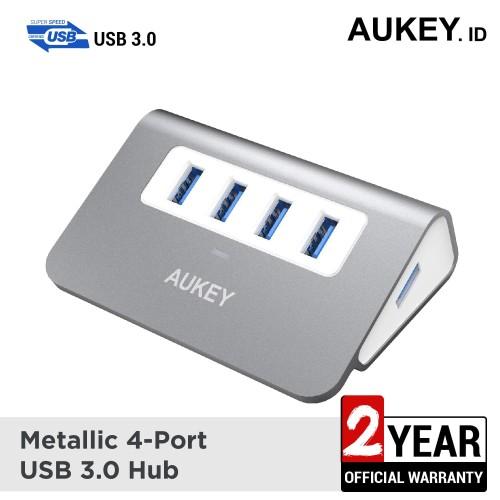 Foto Produk Aukey HUB Aluminium 4 Ports USB 3.0 - 500272 dari AUKEY