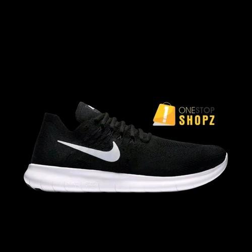Nike Free Run Flyknit 2 Black White 880843-001 Mens Running Shoes