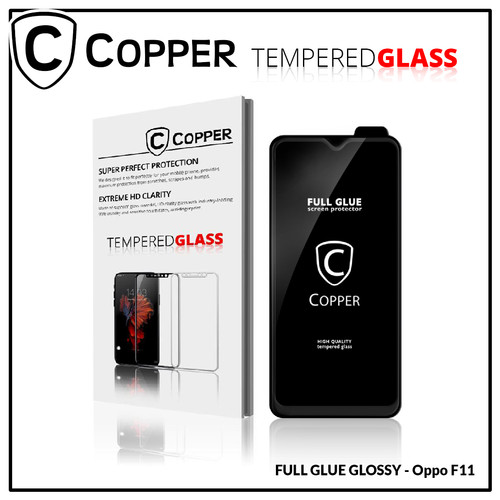 Foto Produk Oppo F11 - COPPER Tempered Glass Full Glue PREMIUM Glossy dari Copper Indonesia