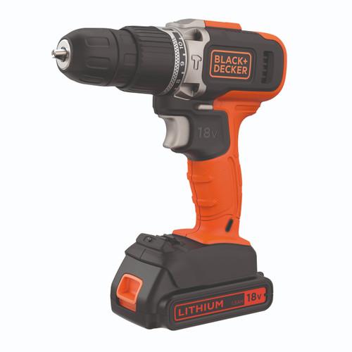 Foto Produk Black + Decker Bor Listrik Hammer Drill Cordless 18 Volt (BCD003C1-B1) dari Black+Decker