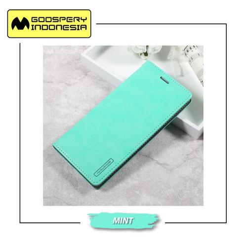 Foto Produk GOOSPERY Samsung Galaxy C9 Pro Blue Moon Flip Case - Mint dari Goospery Indonesia