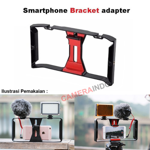 Foto Produk Smartphone Handheld video rig with hotshoe bracket mount led dan mic dari cameraindo