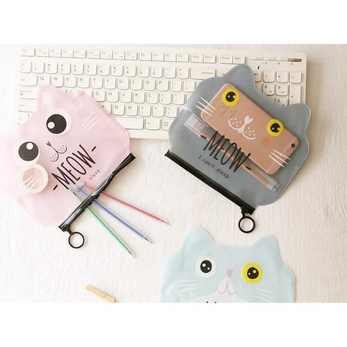 Foto Produk TP0029 Tempat Pensil Badut dan Kucing / Tempat Kosmetik - mulut x dari EnnWen Online Store
