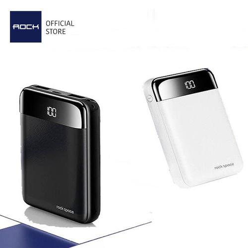 Foto Produk ROCK P66 Mini Power Bank 10000mAh with Digital Display LED Dual USB - Hitam dari ROCK Official Store