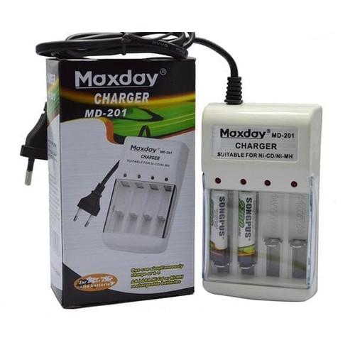 Foto Produk Charger Maxday MD-201 Adaptor Baterai AA Batere AAA Batre Cas dari warunglistrik1