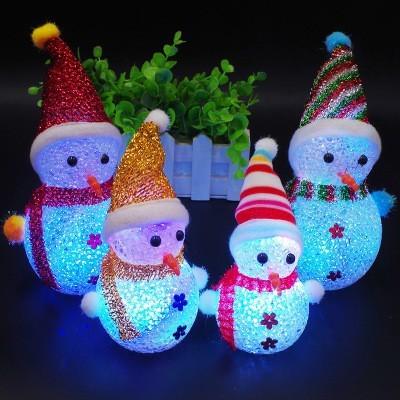Foto Produk ( New Trend ) Lampu LED Menyala Desain Snowman untuk Dekorasi Natal dari presbytiscristata shop