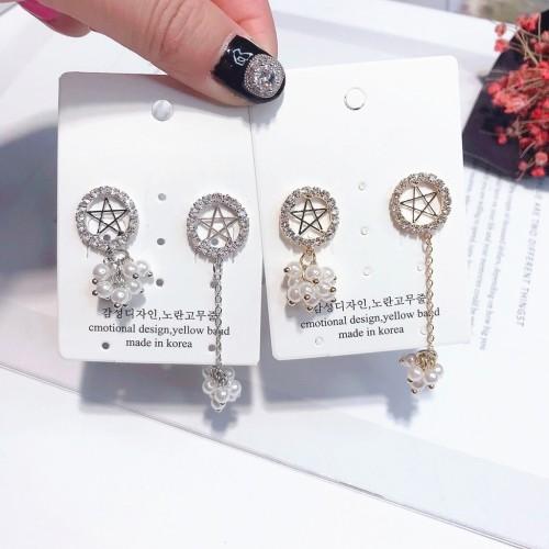 Foto Produk ( New Trend ) Anting Gantung Silver 925 Bentuk Bintang Segi Lima Asim dari presbytiscristata shop