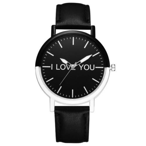 Foto Produk ( New Trend ) Jam Tangan Quartz Strap Kulit Imitasi Motif Huruf untuk dari presbytiscristata shop