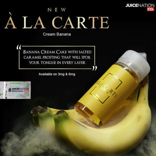 Foto Produk Liquid A La Carte Banana Cream 3Mg 6Mg 100ML Liquid Ala Carte Alacarte - 3MG dari JakartaVapers
