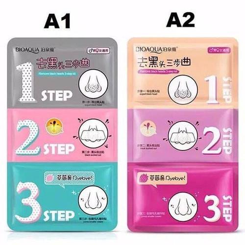 Foto Produk BIOAQUA Masker Hidung 3 Langkah Untuk Menghilangkan Komedo 3 Step Mask - Red dari Bursa Cosmetik Murah