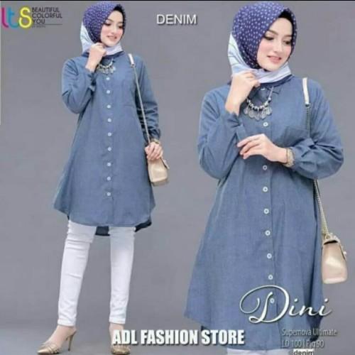 Foto Produk Pakaian Baju Busana Muslim Atasan Wanita Tunik DINI Terbaru Termurah dari Zy's Distro