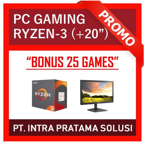 """Foto Produk PC Gaming Lengkap Ryzen-3 2200G + LED 20"""" (Siap Pakai + Bonus Games) dari PT. Intra Pratama Solusi"""
