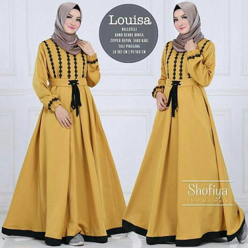 Foto Produk Baju Gamis Balotelli Wanita Muslim Terbaru Louisa Dress Termurah dari hijabafwa