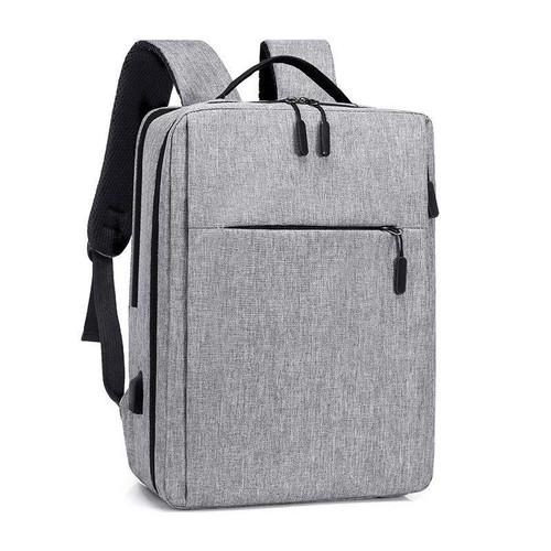 Foto Produk [COD]Tas Ransel USB Port Charging/Ransel Laptop/Backpack Laptop 1411 - Abu-abu dari Smartfish Official Shop