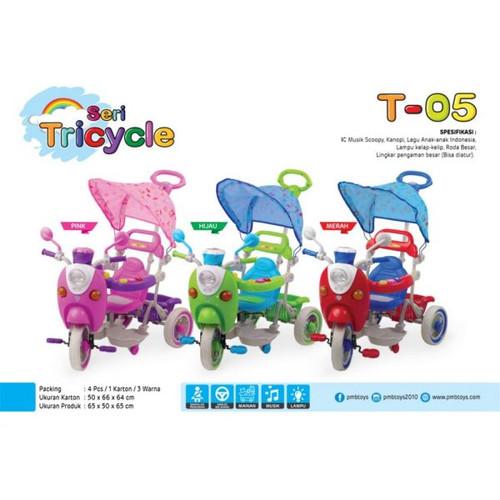 Foto Produk Sepeda Anak Roda Tiga/ Tricycle Scoopy PMB T-05 dari BRECHT.ID
