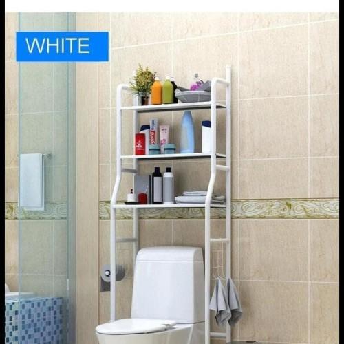 Foto Produk X90 Rak Toilet Organizer WC Tissue sabun Kloset Kamar Mandi 165x50x26 dari toko uunsari