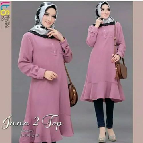 Foto Produk Busana Muslim Baju Atasan Wanita Tunik INNA Terbaru Termurah Terlaris dari Zy's Distro