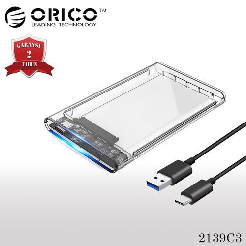 "Foto Produk ORICO 2139C3 HDD / SSD Enclosure 2.5"" USB Type-C - Transparant dari Kenkez-com"