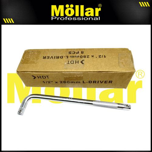 "Foto Produk HDT Kunci Gagang Sok L Driver Ukuran 1/2"" x 280 mm dari Mollar Official"