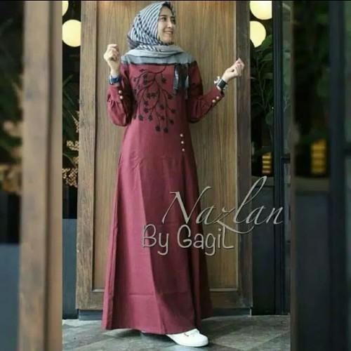 Foto Produk Pakaian Baju Busana Muslim Wanita NAZLAN Dress Maxi Gamis Termurah dari Zy's Distro