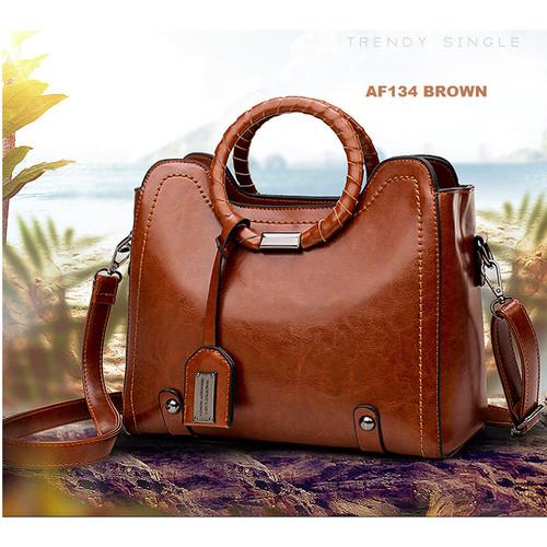 Foto Produk tas ransel wanita Backpack punggung import Sekolah Kuliah Kerja 094 - BROWN dari BarakAllah Store