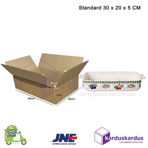 Foto Produk KARDUS | BOX | KARTON PACKING ( 30 x 20 x 5 ) POLOS BARU dari karduskardus