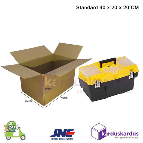 Foto Produk KARDUS | BOX | KARTON PACKING (40 x 20 x 20 ) POLOS BARU dari karduskardus