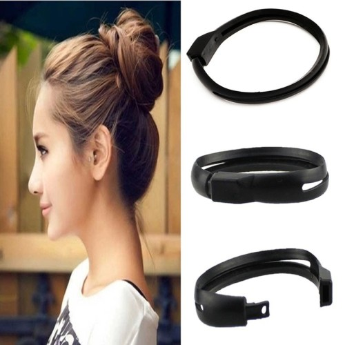 Foto Produk French Women Styling Hair DIY Tool Donut Bun Clip Twist Maker Holder dari Sentral Wakai