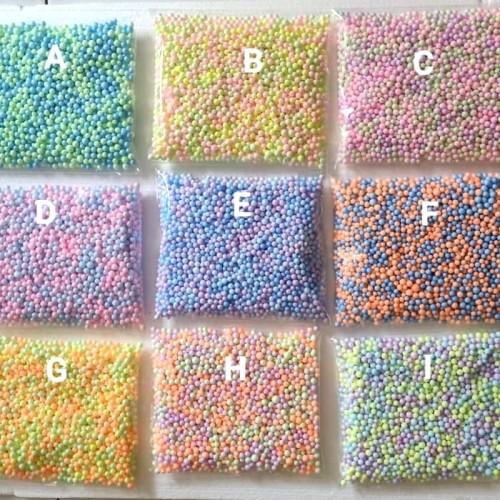 Foto Produk Styrofoam butir warna warni/foam slime/ gabus butir/ floam slime dari ketiff shop