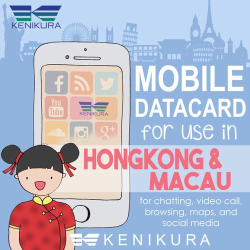 Foto Produk 7 days Hong kong dan Macau data Simcard sim card kartu Hongkong dari Kenikura Tour