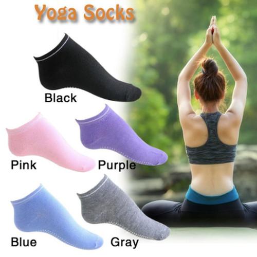 Foto Produk KK002 Kaos Kaki Yoga Pilates Anti Slip Socks Full Toe - Abu-abu dari EnnWen Online Store